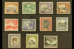 1934 Pictorial Definitives, Complete Set, SG 133/43, Very Fine Used (11 Stamps). For More Images, Please Visit Http://w - Cyprus