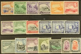 1938-51 Pictorial Definitive Set, SG 151/63, Never Hinged Mint (19 Stamps) For More Images, Please Visit Http://www.sand - Cyprus