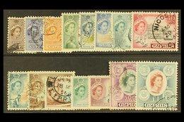 1955-60 Complete Definitive Set, SG 173/187, Fine Used. (15 Stamps) For More Images, Please Visit Http://www.sandafayre. - Cyprus