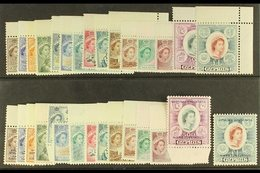 1955-61 DEFINITIVE SETS 1955-60 And 1960-61 Both Definitive Sets Complete, SG 173/202, Never Hinged Mint. (30 Stamps) Fo - Cyprus
