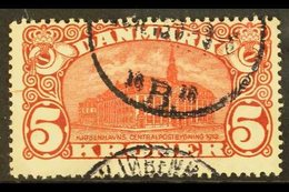 "1915 5k Deep Carmine-red ""GPO - Copenhagen"", SG 185, Cds Used For More Images, Please Visit Http://www.sandafayre.com/it - Unclassified"