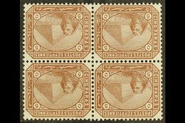 1879 5pa Deep Brown, Watermark Inverted SG 44w, In A Fine Never Hinged Mint Block Of Four. Cat SG £480+ For More Images, - Egypt