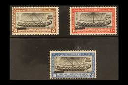 1926 Inauguration Of Port Fuad 5m, 10m And 15m, SG 141/43, Fine Mint. (3 Stamps) For More Images, Please Visit Http://ww - Egypt