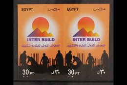 2003 30p Build & Construction Conference, IMPERF PAIR, SG 2279, Some Minor Creasing, Otherwise Never Hinged Mint. For Mo - Egypt