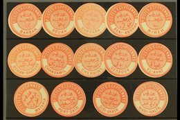 INTERPOSTAL SEALS 1882 TYPE VIIIA All Different Selection Of Local Seals On A Stock Card, Incl. Barbar (Sudan), Bouah, B - Egypt