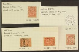 USED IN TURKEY Small Group Of 1867 To 1879 Egypt Sphinx & Pyramid Issues With Postmarks From The Egyptian Extra-territor - Egypt
