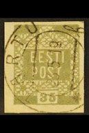 1919 35(p) Grey, Mi 3c, Very Fine Used. For More Images, Please Visit Http://www.sandafayre.com/itemdetails.aspx?s=62143 - Estonia