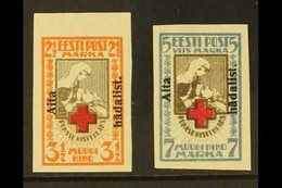 "1923 ""Aita Hadalist."" Overprints Complete Imperf Set (Michel 46/47 B, SG 49A/50A), Very Fine Mint, Very Fresh, Both Stam - Estonia"