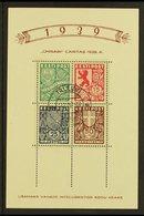 1939 Caritas Mini-sheet (Michel Block 3, SG MS147a), Superb Cds Used, Fresh. For More Images, Please Visit Http://www.sa - Estonia