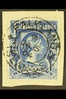 """1898 2s6d Deep Blue, SG 41, Very Fine Used On Small Piece, Tied By Full """"JA 5 / 04"""" Cds. For More Images, Please Visit H - Falkland Islands"""