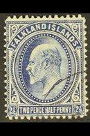 1902-12 KEVII 2½d Deep Blue, SG 46b, Fine Used. For More Images, Please Visit Http://www.sandafayre.com/itemdetails.aspx - Falkland Islands