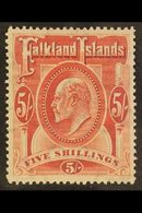 1904-12 KEVII 5s Red, SG 50, Very Fine Mint. For More Images, Please Visit Http://www.sandafayre.com/itemdetails.aspx?s= - Falkland Islands