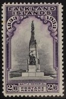 1933 2s 6d Black And Violet, Memorial, SG 135, Very Fine And Fresh Mint. For More Images, Please Visit Http://www.sanda - Falkland Islands