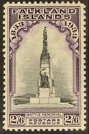 1933 Centenary 2s6d Black And Violet, SG 135, Very Fine Lightly Hinged Mint. For More Images, Please Visit Http://www.sa - Falkland Islands