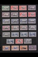 """1938-50 KGVI PICTORIALS. A Complete """"Basic"""" Definitive Set, SG 146/63, Plus Most Additional Listed Shades To 5s, Very Fi - Falkland Islands"""