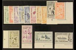 1952 KGVI Definitives Complete Set, SG 172/85, Very Fine Never Hinged Mint. (14 Stamps) For More Images, Please Visit Ht - Falkland Islands