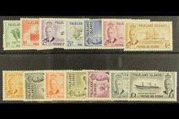 1952 KGVI Pictorial Set, SG 172/85, Fine Mint (14 Stamps) For More Images, Please Visit Http://www.sandafayre.com/itemde - Falkland Islands