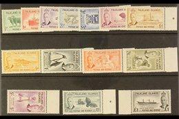 1952 MARGINAL SET. KGVI Definitives Complete Set, SG 172/85, Never Hinged Mint. (14 Stamps) For More Images, Please Visi - Falkland Islands