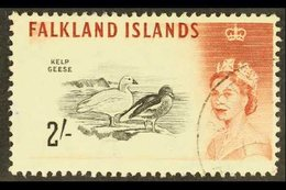 1960-66 QEII Definitive 2s Black And Lake-brown (D.L.R.), SG 204a, Very Fine Used. For More Images, Please Visit Http:// - Falkland Islands