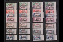 1944-45 OVERPRINTED SETS. ALL Four Overprinted Sets For Each Dependency, SG A1/D8, Matching Marginal Examples, Never Hin - Falkland Islands