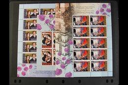 2011 Royal Wedding Set, SG 529/31, Sheetlets Of 10 Stamps, NHM (3 Sheetlets) For More Images, Please Visit Http://www.sa - Falkland Islands