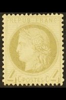 1871-76 4c Grey Ceres (SG 189, Yvert 52), Mint Small Part Gum, Very Fresh, Cat £500. For More Images, Please Visit Http: - France