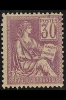1900 30c Mauve Mouchon (Yvert 115, SG 299), Never Hinged Mint, Centred To Right, Good Colour. For More Images, Please Vi - France
