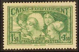 "1931 1f50 + 3f50 Green ""Sinking Fund"", Yv 269, SG 493, Fine Mint For More Images, Please Visit Http://www.sandafayre.com - France"