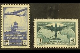 1936 100th Flight Between France And South America Complete Set (SG 553/54, Yvert 320/21), Very Fine Mint, Fresh. (2 Sta - France