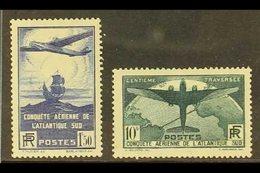 1936 Trans-Atlantic Set, Yvert 320/1, SG 553/4, Fine Mint (2 Stamps). For More Images, Please Visit Http://www.sandafayr - France