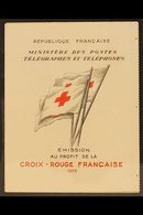 1955 Complete Red Cross Booklet (Yvert 2004, SG XSB5), Never Hinged Mint, Scarce. For More Images, Please Visit Http://w - France