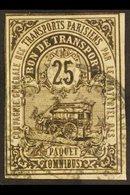 COLIS POSTAUX POUR PARIS 1878 25c Brown Local Parcel Post For Paris, Maury 1, Used, Minor Wrinkles, Scarce. For More Ima - France