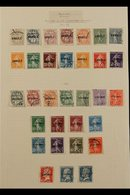 """COURS D'INSTRUCTION """"ANNULE"""" & """"SPECIMEN"""" OVERPRINTS 1923-1925 Very Fine Used Collection Of All Different Stamps With """"A - France"""