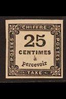POSTAGE DUE 1871-78 25c Black (Yvert 5, SG D212), Mint Small Part Gum, Four Good To Large Margins, Light Wrinkles, Cat £ - France