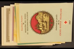RED CROSS BOOKLETS 1956-1958, 1963-1965 & 1967 Complete Booklets, Never Hinged Mint. (7 Booklets) For More Images, Pleas - France