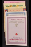 RED CROSS BOOKLETS 1958-1959, 1961, 1963 & 1965-1966 Complete Booklets, Very Fine Cds Used. (6 Booklets) For More Images - France