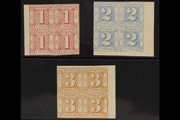 THURN & TAXIS NORTHERN DISTRICT 1862-64 1sgr Pale Rose, 2sgr Pale Blue & 3sgr Bistre, Michel 29/31, Mint Marginal/corner - Unclassified