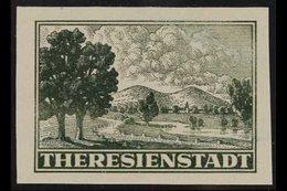 "BOHEMIA AND MORAVIA ""ZULASSUNGSMARKE"" 1943 Grey-green, Imperforate, Michel 1U, Never Hinged Mint, 4 Large Margins, Signe - Germany"