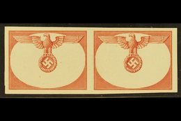 GENERALGOUVERNEMENT OFFICIALS 1940 IMPERF PROGRESSIVE PROOF PAIR OF FRAME ONLY For The 1940 Officials Top Values (Michel - Germany
