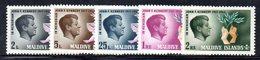 APR2164 - MALDIVE 1964 , Serie  Yvert N. 159/163  ***  MNH  (2380A) .  Kennedy - Maldive (1965-...)