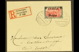 OCCUPATION OF BELGIUM 1917 (14 April) Registered Cover To Antwerp Bearing 6f25 On 5m (Mi 25, SG 25, COB OC25) Tied By Bo - Germany