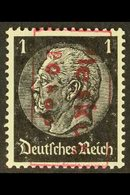 PLESKAU 1941 20k On 1pf Black With Red Overprint, Michel 1b, Never Hinged Mint With A Couple Of Tiny Gum Skips, Line On  - Germany