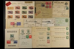 1850's-1940's COVERS & CARDS. An Interesting Group, Includes 1884 Card To Puerto Rico With Paraguay Consular Cachet, 190 - Germany