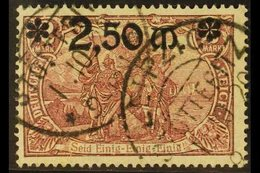 1920 2.50m On 2m Rosy Purple Surcharge (Michel 118, SG 139), Fine Used With Two Fully Dated Cds Cancels. For More Images - Germany