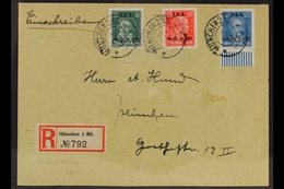"1927 ""I.A.A."" International Labour Office Overprints Complete Set (Michel 407/09, SG 421/23) Fine Used On Registered Cov - Germany"