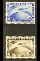 1930 Air First South American Flight Of Graf Zeppelin Complete Set (Michel 438/39, SG 456/457a), Fine Mint, A Few Shorti - Germany