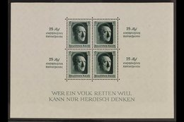 1936 Culture Fund Miniature Sheet (Michel Block 9, SG MS637), Never Hinged Mint, Very Fresh. For More Images, Please Vis - Germany