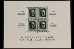 1937 Culture Fund Miniature Sheet (Michel Block 9, SG MS637), Never Hinged Mint, Fresh. For More Images, Please Visit Ht - Germany