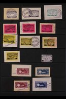ROCKET POST LOCAL STAMPS 1933-1934 SUPERB USED COLLECTION On Stock Pages, Most Stamps Are On Pieces With Complete Specia - Germany