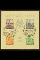 RUSSIAN ZONE 1946 IMPERF Leipzig Trade Fair Miniature Sheet, Mi Block 5ya, Never Hinged Mint With Special Cancels. Lovel - Germany